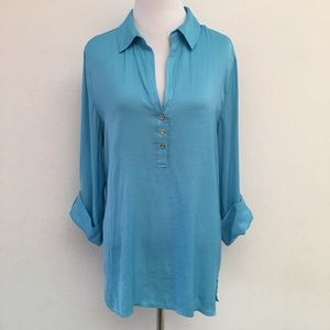Lilly Pulitzer V Neck Long Sleeve Blouse size M